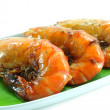 Large sweet shrimp on isolate white background. — Zdjęcie stockowe