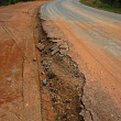Road begins collapse. — Stock Photo #36873961