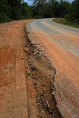 The road begins collapse. — Stockfoto