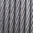 Stock Photo: Steel Wire Rope and grease