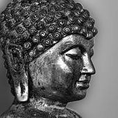 Ancient Buddha face. — Foto de Stock