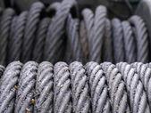 канаты стальные и смазка — Стоковое фото