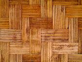 Bamboo wallpaper, folk art in Thailand. — Stock Photo