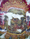 Old giant painting, in Thai Temple. — Stockfoto