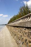 The tsunami walls at Pak Meng Beach, Trang Province, Thailand. — Photo