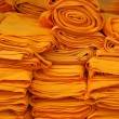 The yellow cloth for Buddhism. — 图库照片