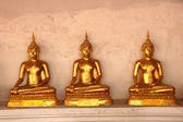 Golden Buddha in Buddhist temple — Stock Photo