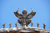 Garuda statue in the holy places of Buddhism. — Stock Photo