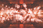 Abstract background of brick wall texture and bokeh effect — Stock Photo