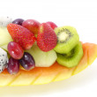 Stock Photo: Mixed Fruits isolated on a white background.