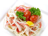 Imitation Crab salad. — Stock Photo