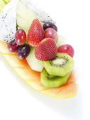 Mixed Fruits isolated on a white background. — Stock Photo