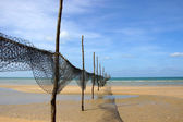 Fishing Net at The beaches of Thailand. — Stock Photo