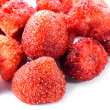 Crispy Strawberry on white background. — Stock Photo