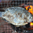 Nile tilapia fish on the Barbecue, healthy food. — Stock Photo