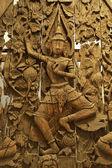 Ancient statues of Hindu gods — Stock Photo