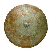 Upper part of bronze kettle drum, Prehistoric period, Metal Age. — Stockfoto