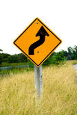 交通標識や草. — ストック写真