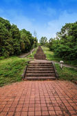 Stone steps of the historic, southern Thailand. — Stock Photo