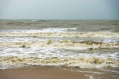 Sea waves, intensity in monsoon season. — Stock Photo