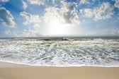Sea waves, intensity in monsoon season. — Stock Photo