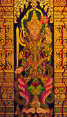 Portrait painting of Thailand, In the northern Thai temples. — Stock Photo