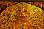 Golden Buddha, ancient Thai temples in Northern — 图库照片