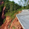 Stock Photo: Road damage from landslide