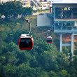 Red cable car, Go to mountain. — Stock Photo #39488387