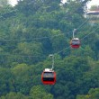Red cable car, Go to mountain. — Stock Photo #39488491