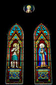 Stained glass church window, Church of Christ — Stock Photo
