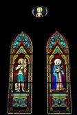 Janela de vitrais de igreja, igreja de cristo — Foto Stock