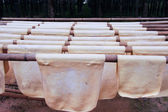 Dried rubber sheet For use in industry. — Stock Photo
