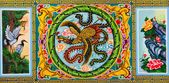 Chinese style paintings at San Jao Mae Guan Yim (Guan Yim temple) — Stock Photo