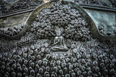 Story of the Buddha on silver in the temple, Thailand. — Zdjęcie stockowe