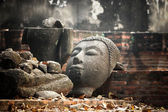 Head of Sandstone Buddha — Foto Stock