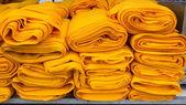 Orange fabric rolls — Foto de Stock