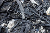 Charcoal from bamboo leaves, To make Chinese ink. — Stock Photo