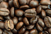 Close-up of Roasted coffee beans — Foto Stock