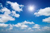 Blue sky with cloud — Stockfoto