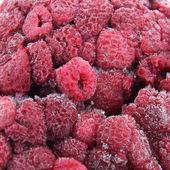 Raspberry frozen berries. — Stock Photo
