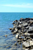 Stone for storm surge protection — Stock Photo