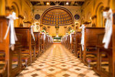 The interior of the ancient Christian church. — Stock Photo