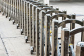 Steel railings — Stock Photo