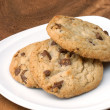 Milk chocolate macadamia, Chocolate chunk crispy cookies. — Stock Photo #49357895