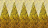 Ancient Thai pattern on door in Thailand Buddha Temple , Asian B — Stock Photo