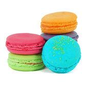 Traditionella franska färgglada macarons — Stockfoto