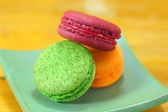 Traditional french colorful macarons — Stock Photo