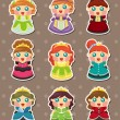 Princess stickers — Stockvector #12435353