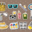 Travel element stickers — Imagen vectorial
